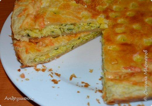 Мастер-класс Рецепт кулинарный Слоеный пирог с простой начинкой Продукты пищевые фото 2
