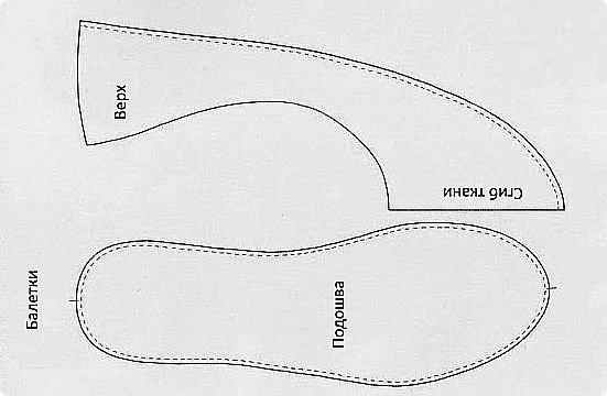 Тапочки сапожки своими руками выкройки с размерами 773