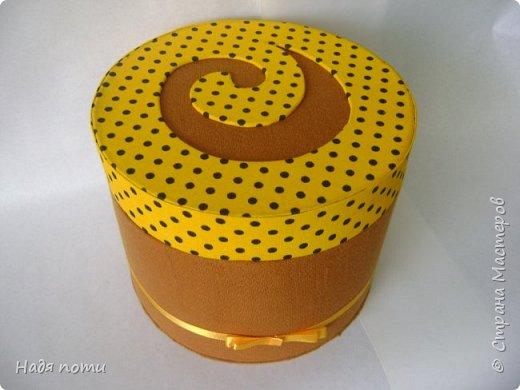 Такая круглая коробочка получилась у меня фото 1