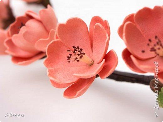Мастер-класс Лепка Мастер-класс Венок с цветами персика из фоамирана Фарфор холодный Фоамиран фом фото 7
