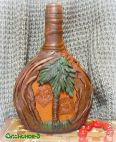 Декор предметов Любимый слоненок Раджи Бутылки стеклянные Кожа Металл фото 3