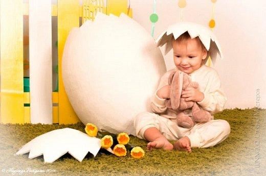 Недавно я получила необычный заказ для пасхального фото-проекта. Нужно было сделать огромное яйцо, да чтобы туда помещался ребенок! О выбранном пути и трудностях на нем, читайте ниже :)  фото 17