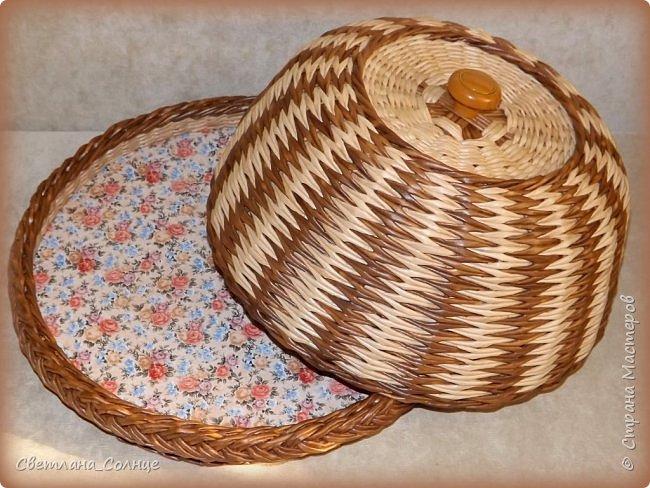 Хлебница из газетных трубочек