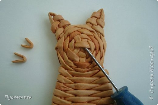 Игрушка Плетение Котики Бумага Трубочки бумажные фото 22