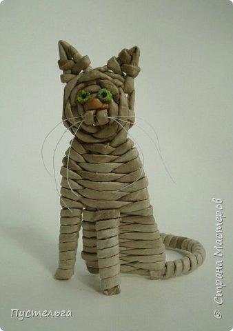 Игрушка Плетение Котики Бумага Трубочки бумажные фото 2