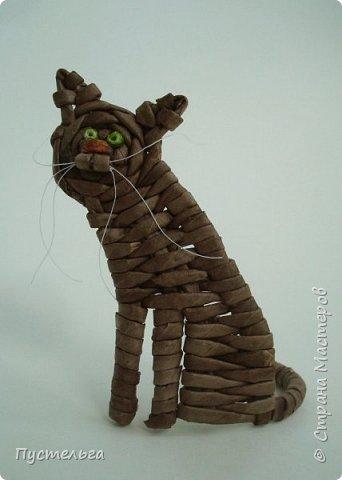 Игрушка Плетение Котики Бумага Трубочки бумажные фото 3