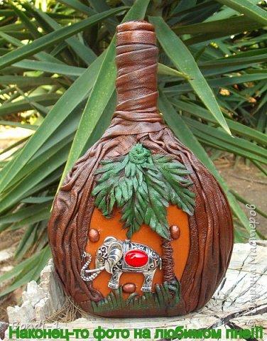 Декор предметов Любимый слоненок Раджи Бутылки стеклянные Кожа Металл фото 7