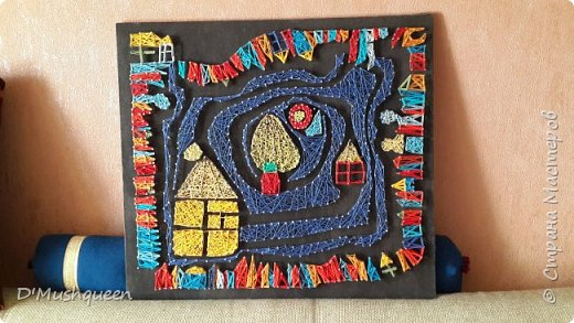 Картина панно рисунок Мастер-класс Изонить Хундертвассер Стринг Арт Нитки фото 1