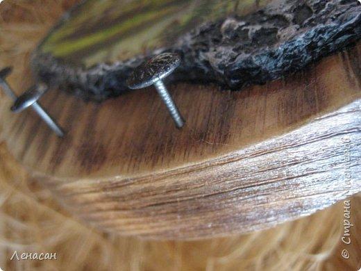 Декор предметов Мастер-класс Декупаж Лепка Ключница Берёза на сосне Дерево Пластика фото 7