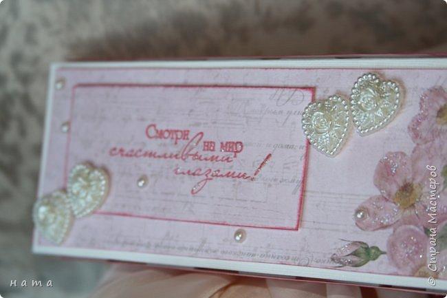 На свадьбу сотворился комплектик: Магнит на холодильник Коробочка с подложкой из роз Открыточка в коробочке футляр для денежки фото 6