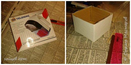Этот колодец- одна из частей задуманной композиции! Что мне понадобилось: коробочка, бумага, палочки для мороженого, проволока, клей момент, шпатлёвка финишная сухая, акриловые краски, ножницы по метлу, канцелярский нож, цепочка, деревянная часть кисточки для ворота,наждачная бумага. Для ведёрка: картон, проволока, нить, акриловые краски и лак.   фото 2