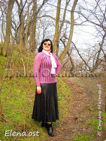 Мой новый ажурный пуловер к весне вязала из пряжи Ализе Феличита. Пряжи ушло 600г, крючок № 2. И конечно же небольшое музыкальное сопровождение для хорошего настроения: итальянский дуэт Al Bano & Romina Power-Felicita   Фотосессия на лоне весенней природы