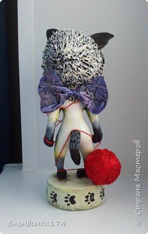 Куклы Мастер-класс Поделка изделие Лепка Папье-маше Сиамский котёнок Мимиша  Бумага Глина Клей Краска Проволока Фольга фото 3