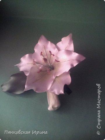 Мастер-класс Поделка изделие Моделирование конструирование лилия из атласных лент Карандаш Клей Ленты фото 1