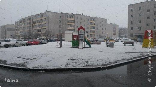 снежное апрельское утро