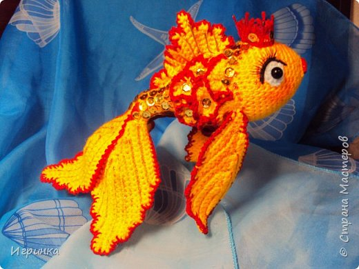 Рыбка вязанная крючком