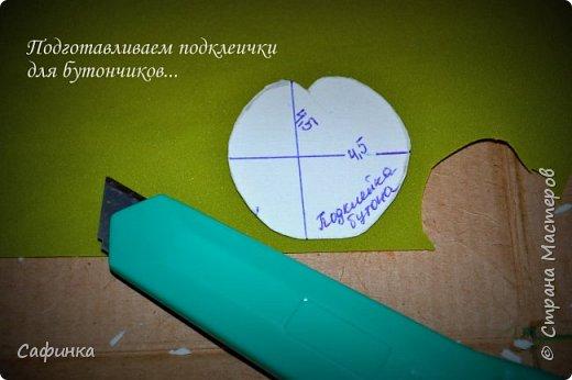 """Приветик всем,мои дорогие!!! И снова с вами я, Ольга Сыротюк... По просьбе одной читательницы моих МК...мы вместе с вами будем создавать очаровательные бутоны пиона сорта """"Ballerina""""  Согласно учению Фэн-Шуй, цветок пиона является символом удачи и любви... И так начнем...готовы творить вместе со мной? Значит за дело,достаем волшебный материал, и хорошее настроение.... фото 16"""