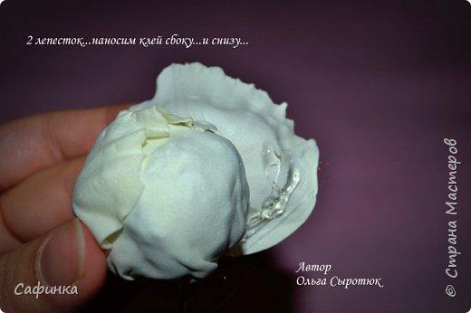 """Приветик всем,мои дорогие!!! И снова с вами я, Ольга Сыротюк... По просьбе одной читательницы моих МК...мы вместе с вами будем создавать очаровательные бутоны пиона сорта """"Ballerina""""  Согласно учению Фэн-Шуй, цветок пиона является символом удачи и любви... И так начнем...готовы творить вместе со мной? Значит за дело,достаем волшебный материал, и хорошее настроение.... фото 33"""