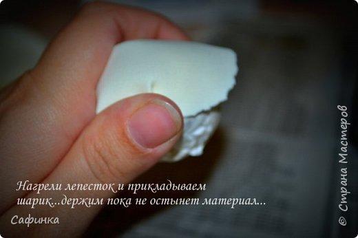 """Приветик всем,мои дорогие!!! И снова с вами я, Ольга Сыротюк... По просьбе одной читательницы моих МК...мы вместе с вами будем создавать очаровательные бутоны пиона сорта """"Ballerina""""  Согласно учению Фэн-Шуй, цветок пиона является символом удачи и любви... И так начнем...готовы творить вместе со мной? Значит за дело,достаем волшебный материал, и хорошее настроение.... фото 9"""