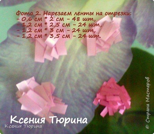Мастер-класс Цумами Канзаши Мастер класс Хризантема из атласных лент Ленты фото 3