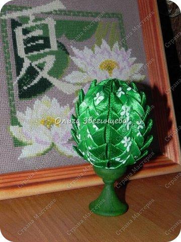 Приветствую всех жителей СМ! в этот раз на праздник Пасхи я сделала яички атласными лентами... фото 2