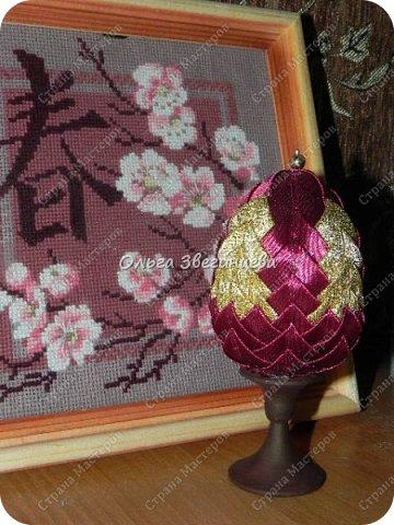 Приветствую всех жителей СМ! в этот раз на праздник Пасхи я сделала яички атласными лентами... фото 3