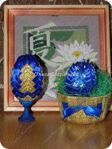 Приветствую всех жителей СМ! в этот раз на праздник Пасхи я сделала яички атласными лентами... фото 5