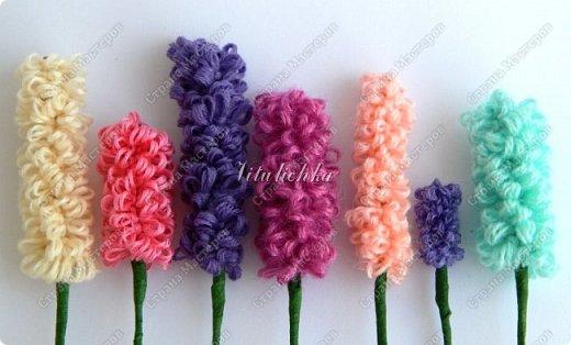 Сегодня на уроке делали гиацинты. Цветы делаются довольно быстро и не сложно. фото 5