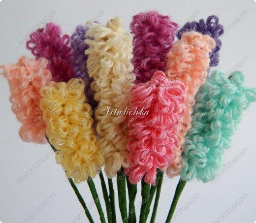 Сегодня на уроке делали гиацинты. Цветы делаются довольно быстро и не сложно. фото 13