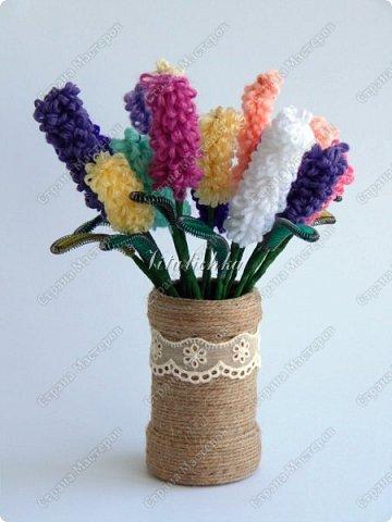 Сегодня на уроке делали гиацинты. Цветы делаются довольно быстро и не сложно. фото 2