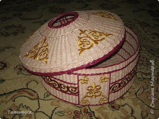 Хочу поделиться своим плетением юрты. Очень здорова пойдёт для оформления подарка ко дню свадьбы. фото 24