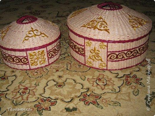 Хочу поделиться своим плетением юрты. Очень здорова пойдёт для оформления подарка ко дню свадьбы. фото 25