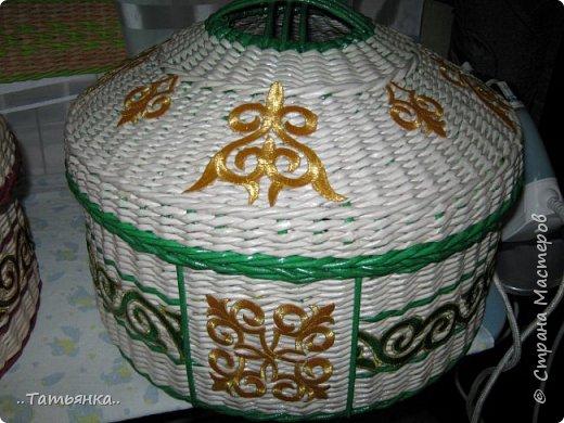 Хочу поделиться своим плетением юрты. Очень здорова пойдёт для оформления подарка ко дню свадьбы. фото 26
