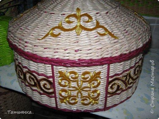 Хочу поделиться своим плетением юрты. Очень здорова пойдёт для оформления подарка ко дню свадьбы. фото 27