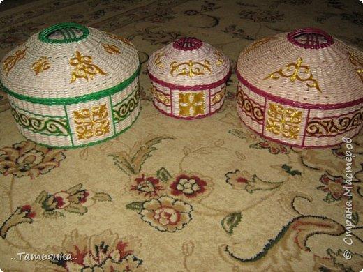 Хочу поделиться своим плетением юрты. Очень здорова пойдёт для оформления подарка ко дню свадьбы. фото 1