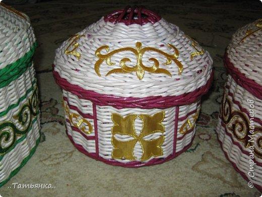 Хочу поделиться своим плетением юрты. Очень здорова пойдёт для оформления подарка ко дню свадьбы. фото 28