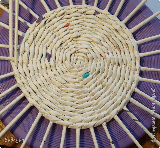 Мастер-класс Поделка изделие Бумагопластика Плетение Кругляш из точки  Трубочки бумажные фото 1