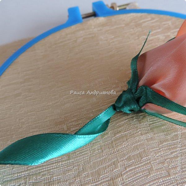 Картина панно рисунок Мастер-класс Вышивка Бутоны роз Вышивка атласными лентами Ленты фото 18