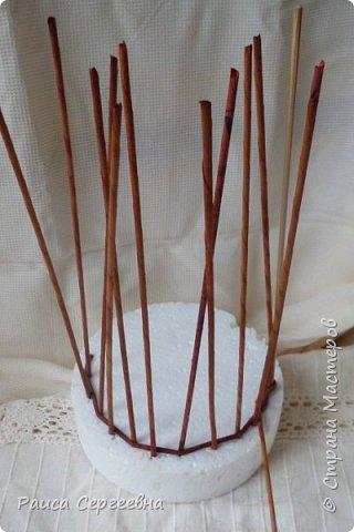 Мастер-класс Плетение Мини МК по плетению Ушастой корзины  Трубочки бумажные фото 3