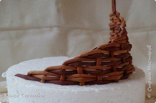 Мастер-класс Плетение Мини МК по плетению Ушастой корзины  Трубочки бумажные фото 13