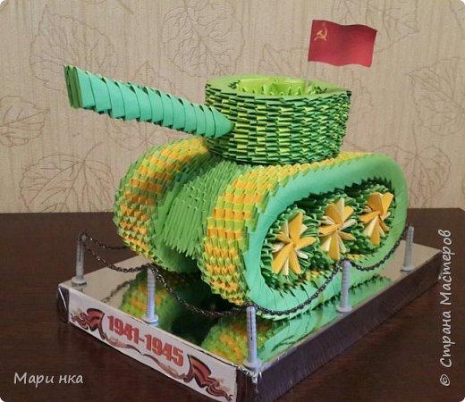 модульное Танк Т-34 Бумага