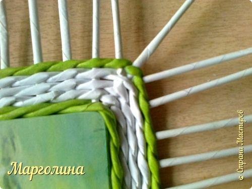 Мастер-класс Поделка изделие Плетение Небольшой МК прямоугольной крышки Как ее делаю я Бумага Бумага газетная Трубочки бумажные фото 10