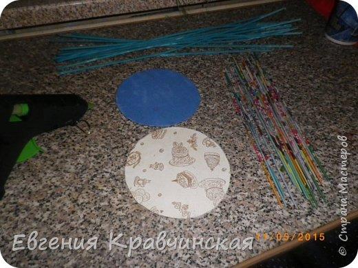 Мастер-класс Поделка изделие Плетение Валик на крышке двухсторонний Бумага газетная Трубочки бумажные фото 2