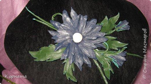 """Доброго времени суток, дорогие мастера ! Сегодня я в хорошем весеннем настроении и делиться буду цветочками, мною нежно любимыми! Брошь-заколка """"АСТРА"""" фото 5"""