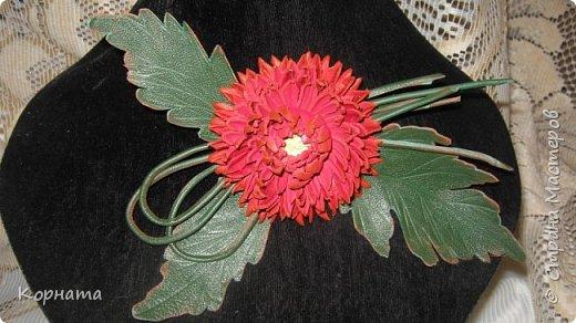 """Доброго времени суток, дорогие мастера ! Сегодня я в хорошем весеннем настроении и делиться буду цветочками, мною нежно любимыми! Брошь-заколка """"АСТРА"""" фото 10"""