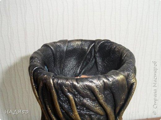 Мастер-класс Моделирование конструирование И снова кожа ВАЗА Клей Кожа Краска Мешковина Проволока фото 7