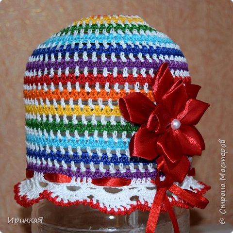 Вот такую шапочку я связала для малышки на лето) фото 1