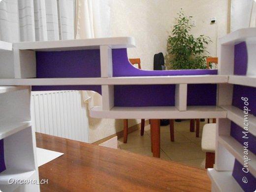 Здравствуйте, жители Страны Мастеров! По вашей просьбе постараюсь выложить МК создания мебели. Как видите, я немножко её приукрасила, добавив горшки с цветами и книги.   фото 45