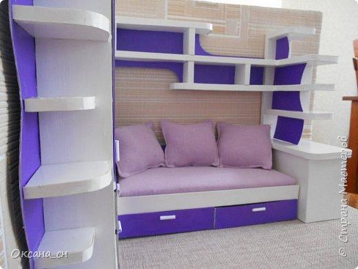 Здравствуйте, жители Страны Мастеров! По вашей просьбе постараюсь выложить МК создания мебели. Как видите, я немножко её приукрасила, добавив горшки с цветами и книги.   фото 47