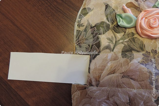 Мастер-класс Поделка изделие Вышивка Шитьё косметичка Ленты Ткань фото 3